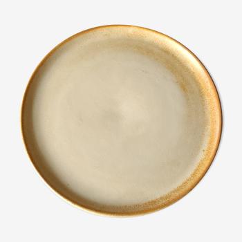 Assiette ou plat en grès
