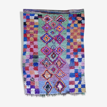Tapis marocain berbère authentique boucherouite 190x140cm
