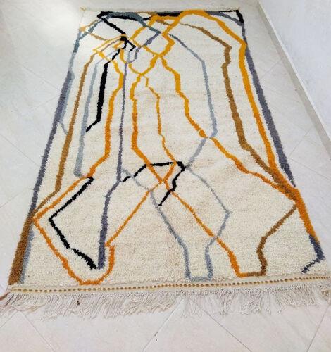 Tapis berbère abstrait orange 260 x 146 cm