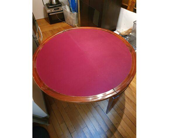 Table de jeux ronde appoint en demi cercle depliable