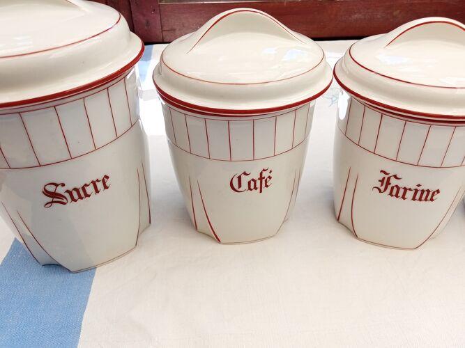 Série de 6 pots à épices de cuisine
