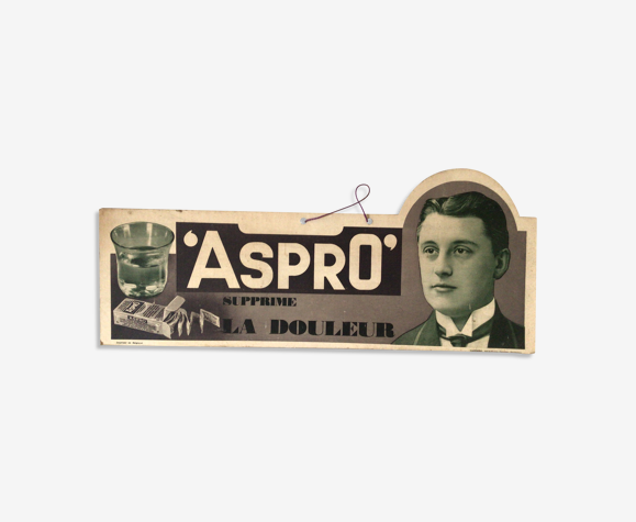 Publicité carton pharmacie Aspro