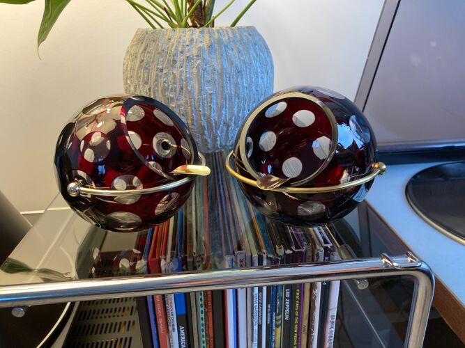 Cendriers boule Marita Voigt pour Harzkristall - années 70