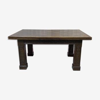 Table de salle à manger à allonges de Joseph Savina 1901-1983