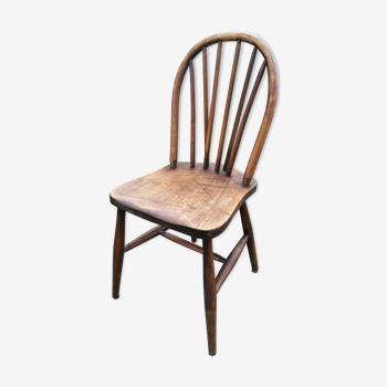 Chaise bois courbé massif pieds compas