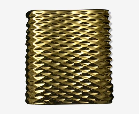 Applique cube céramique doré