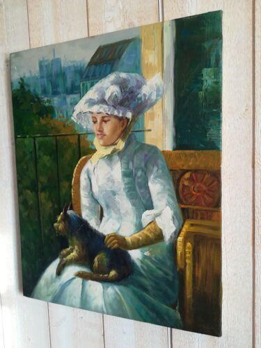 Portrait jeune femme et son chien