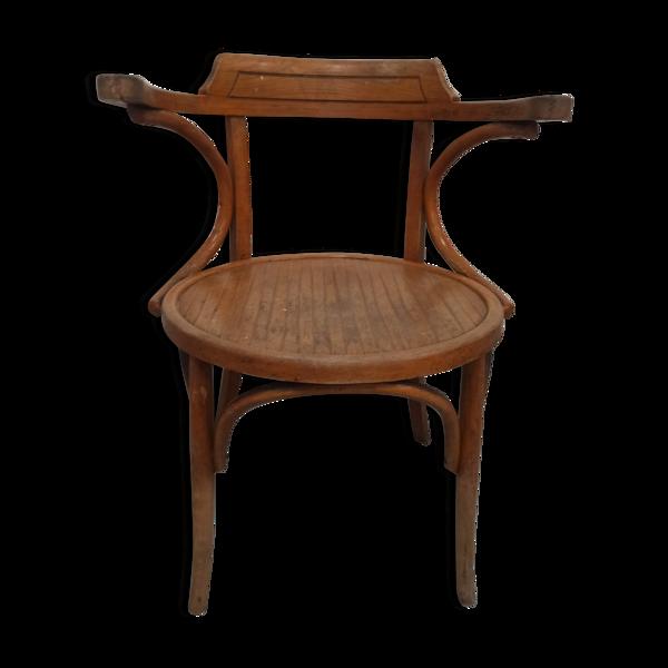 Fauteuil de bureau en bois courbé fischel