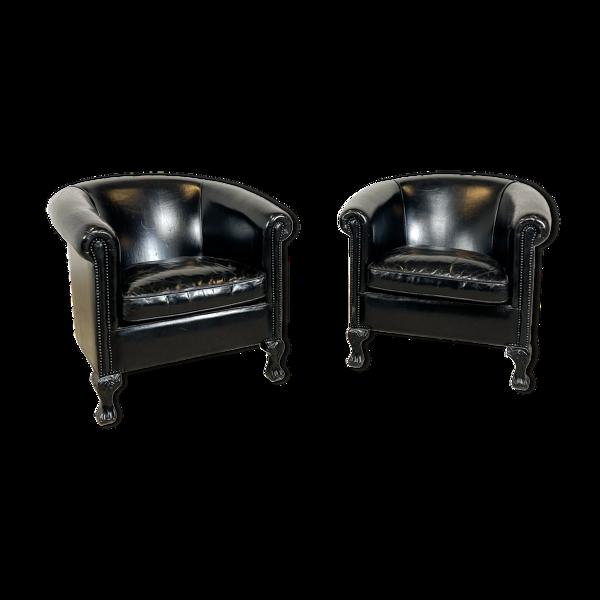 Ensemble de 2 fauteuils club