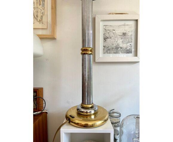 Lampe Le Dauphin en métal argenté et doré