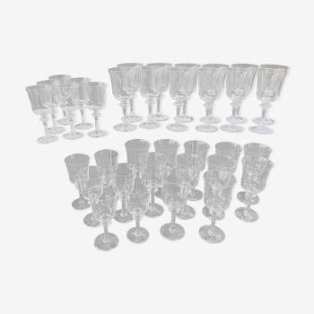 Service de verres Daum modèle «Saumur»