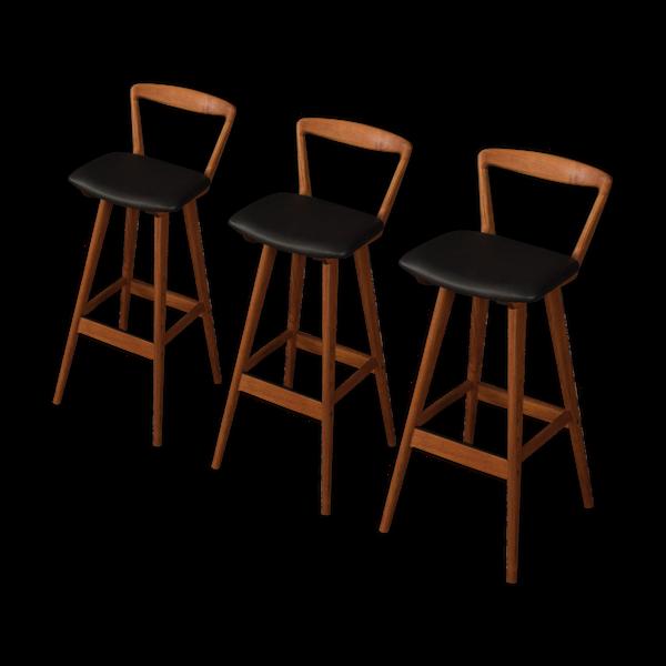 3tabourets bar des années 1960, Henry Rosengren Hansen