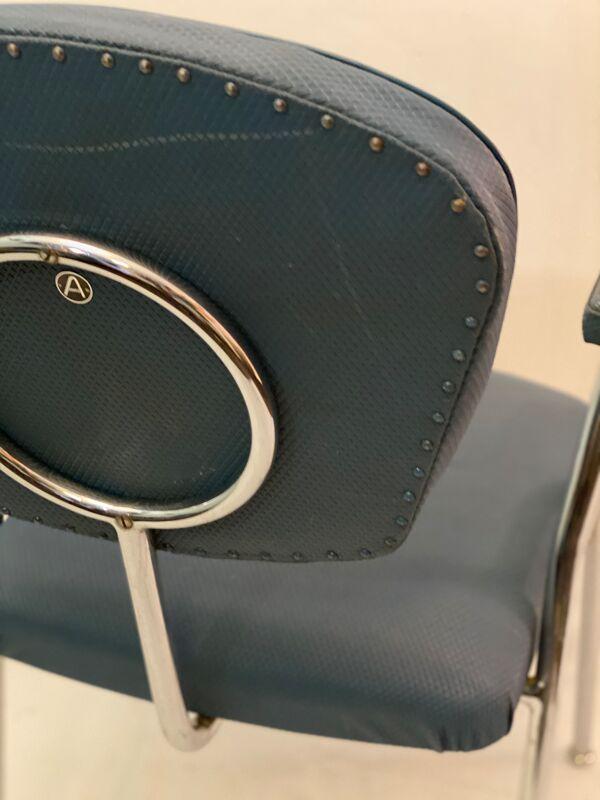 Chaise art déco tubulaire industrielle