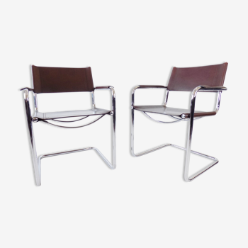 Paire de fauteuils MG5 de Matteo Grassi