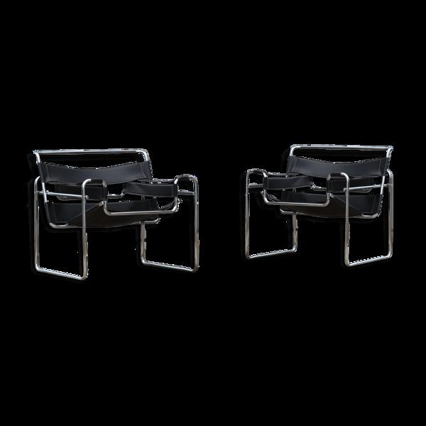 Selency Paire de fauteuils Wassily B3 Marcel Breuer