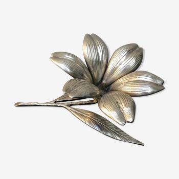 Fleur en laiton vintage