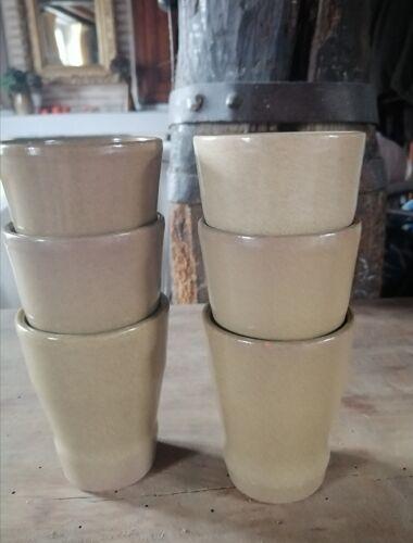 6 verres en grès émaillé