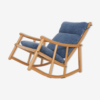 Rocking-chair scandinave, années 60