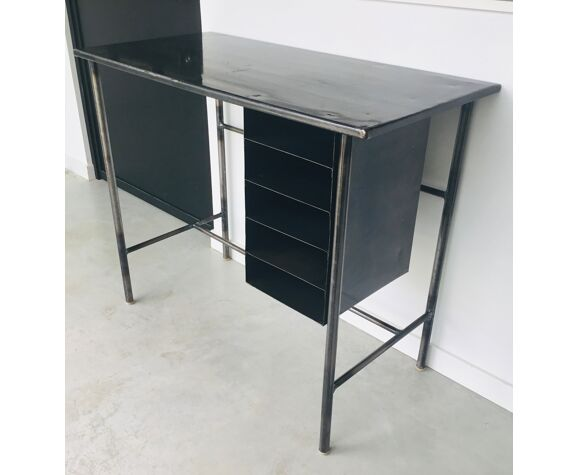 Riveted industrial office with storage box - 1950