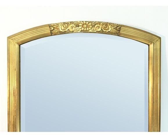 Miroir doré art deco 143 x 83 cm