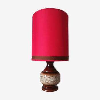 Lampe vintage en faïence
