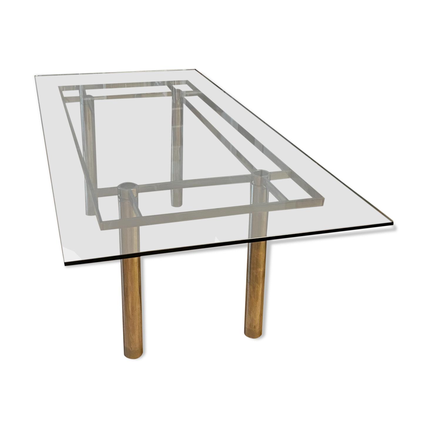 Table à repas rectangulaire ''andré'' par Tobia Scarpa pour gavina knoll