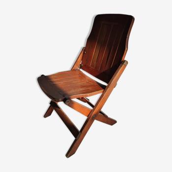 Chaise extrême-orientale pliante en bois