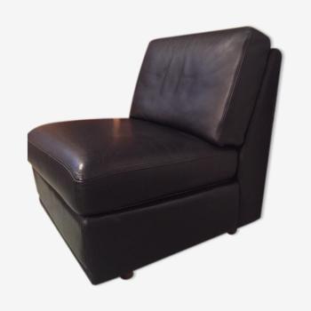 Chauffeuse cuir noir Burov