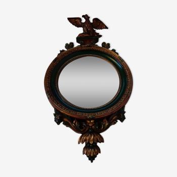Miroir oeil de sorcière style Fédéral américain 89x46cm