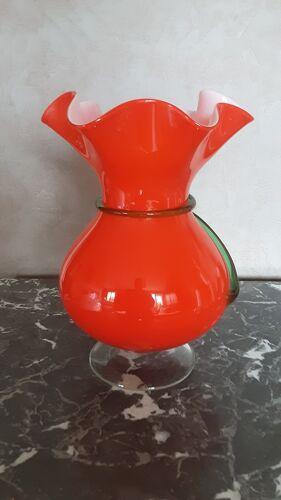 Vase corolle verre Murano années70