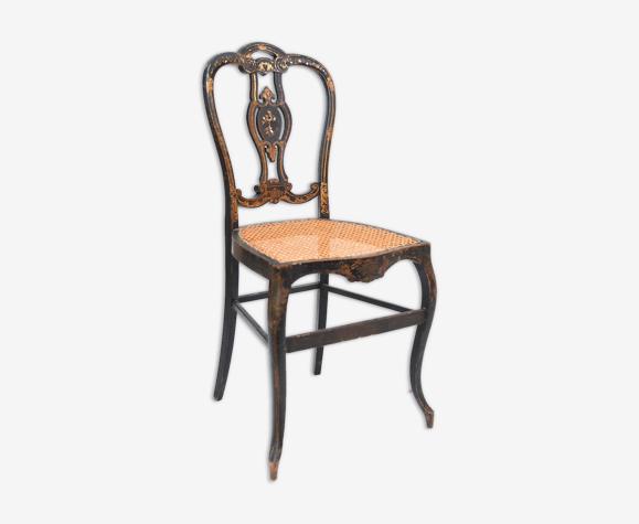 Chaise cannée d'époque Napoléon III