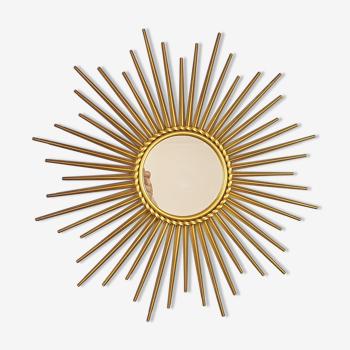 Miroir soleil métal doré Chaty Vallauris 50 cm