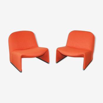 Paire de fauteuils Alky par Giancarlo Piretti pour Castelli, 1969