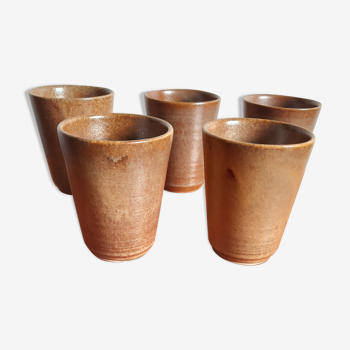 5 sandstone cups