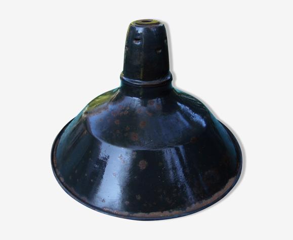 """Suspension """"gamelle""""  industrielle, loft atelier,  tôle émaillée, vintage années 50/60"""