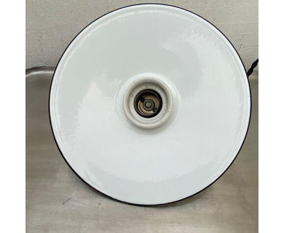 Suspension emaillée blanche 20 cm