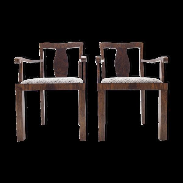 Paire de fauteuils art déco Tchécoslovaquie années 1930