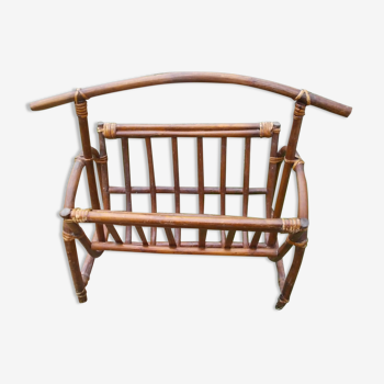 Porte revue vintage en bambou