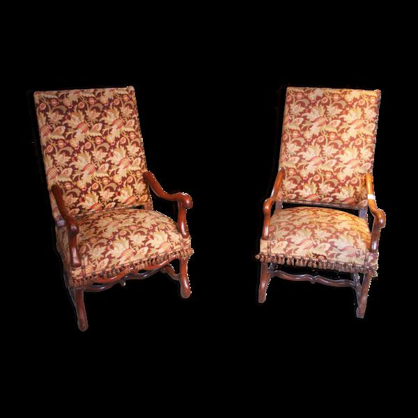 Selency Deux fauteuils d'époque Louis XIII