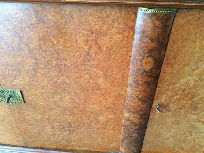 Enfilade buffet art deco 1930 1900 french sideboard loupe orme