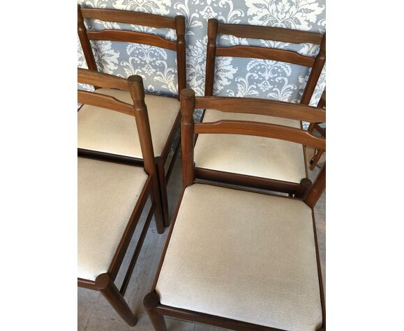 4 chaises scandinave teck, 1960