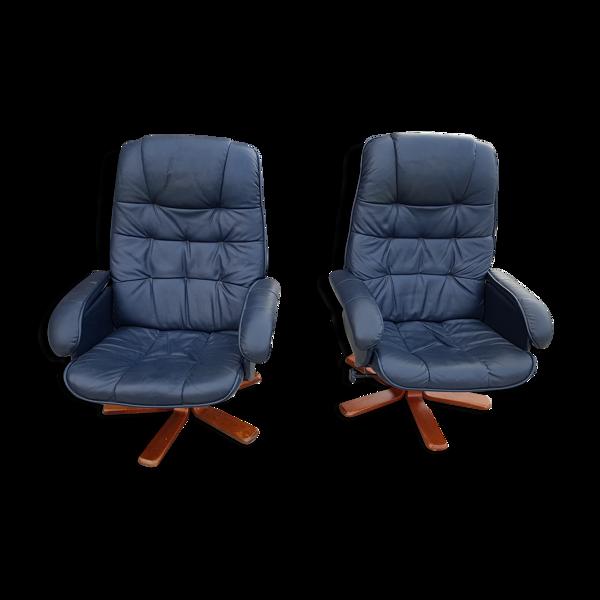 Paire de 2 fauteuils vintage