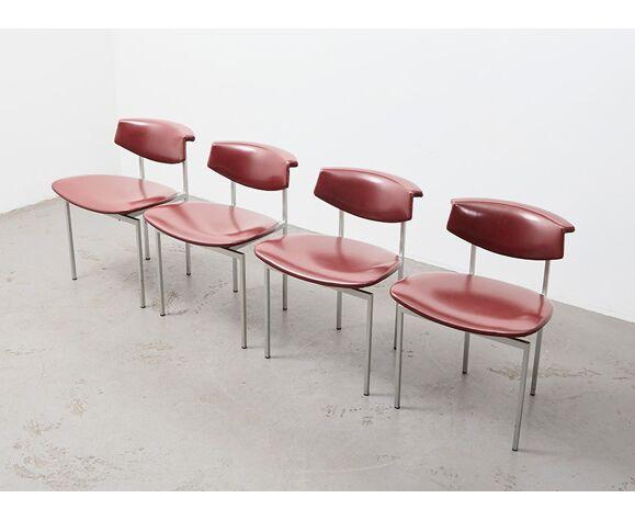 Lot de 4 chaises par Rudolf Wolf pour Gaasbeek & Van Tiel 1962