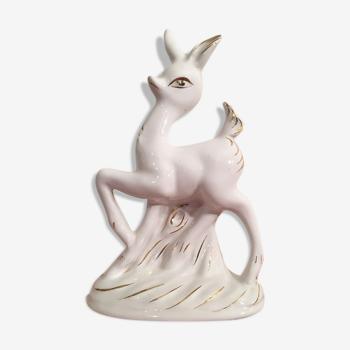 "Vase soliflor faon céramique "" Bambi "" 50s  Retro  Vintage"