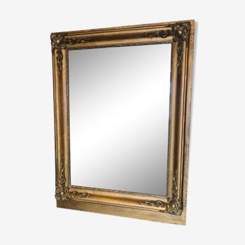 Miroir ancien doré 19eme siècle 85x65cm