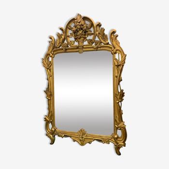 Miroir en bois doré 106x 68