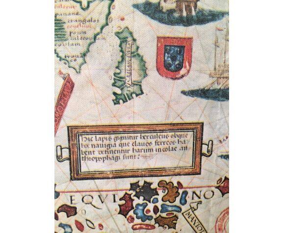 Carte Atlas Miller sur papier entoilé