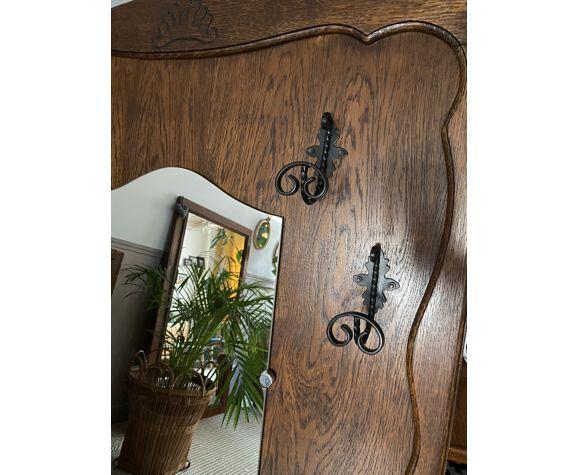 Porte manteau mural miroir vestiaire vintage