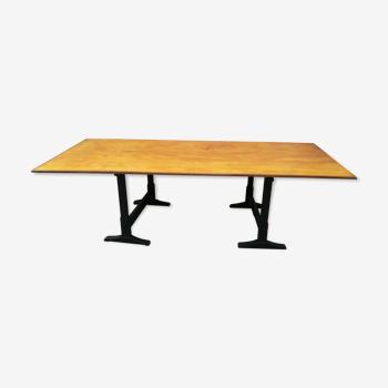 Table plateau tréteaux