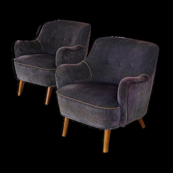 Paire de fauteuil italien années 50/60